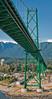 Going under Lion's Gate Bridge, Vancouver