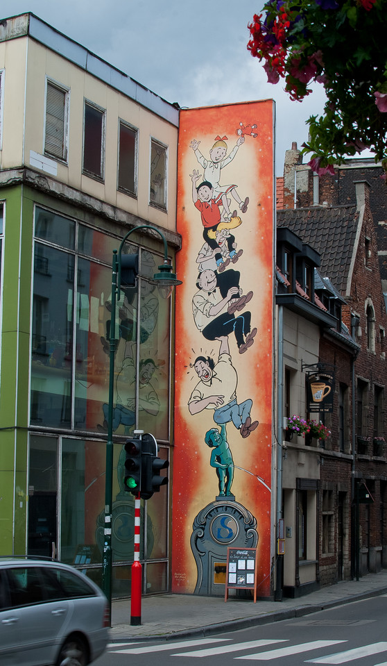 Tintin poster in Brussel