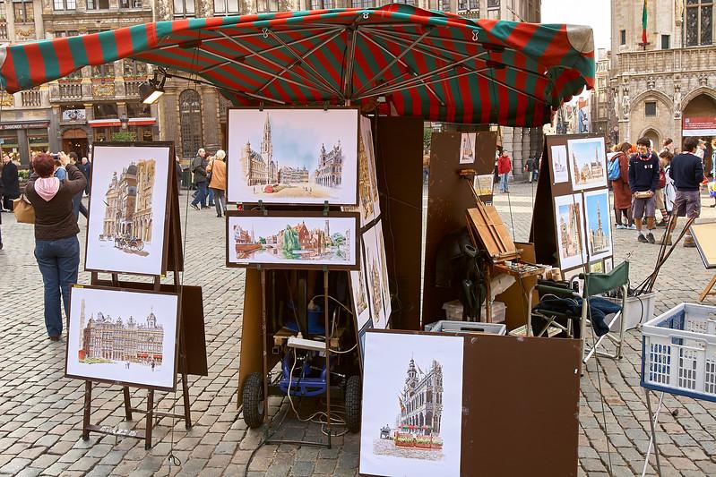 Vendor in Grand Place Square