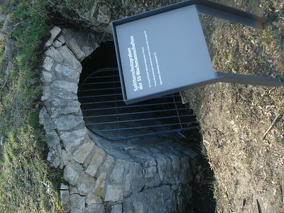 Bombshelter with plaque