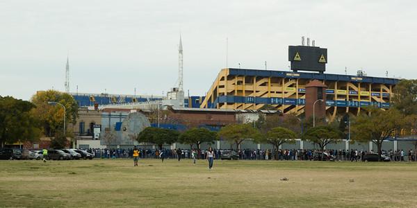 Long Lines at the Boca Juniors Standium