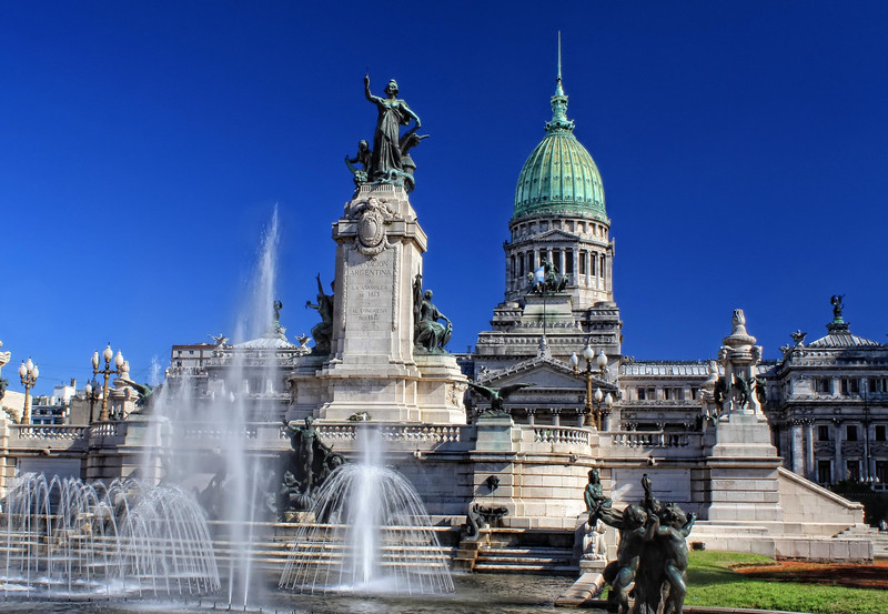Fountain at Congresso Nacional