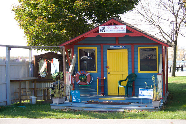 A beautiful fall day in Buffalo and what a fun little shanty!
