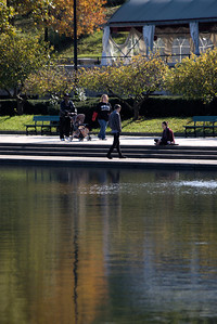A beautiful fall day in Buffalo. All kinds of people out to enjoy Delaware Park.