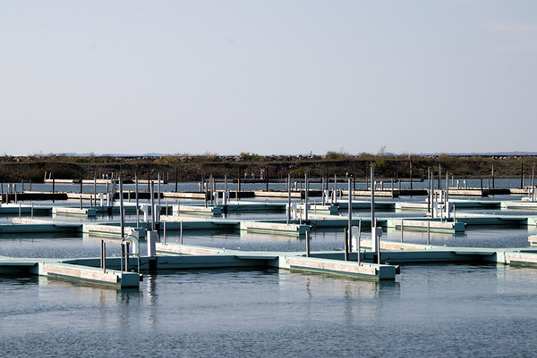 A beautiful fall day in Buffalo. Empty docks, soon to be pulled in entirely.