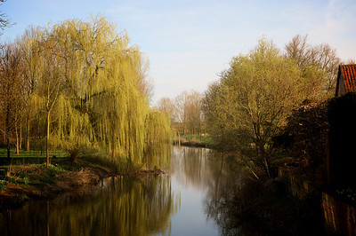 The River Stour as seen from the bridge at Bures