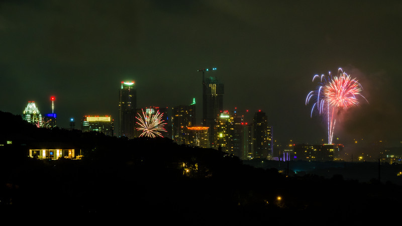 Some of my neighbors joined in the fireworks show!