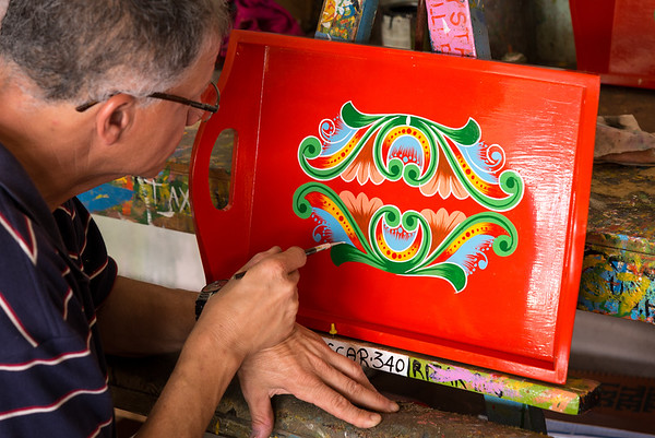 Artist at a Costa Rican cart manufacturing facility