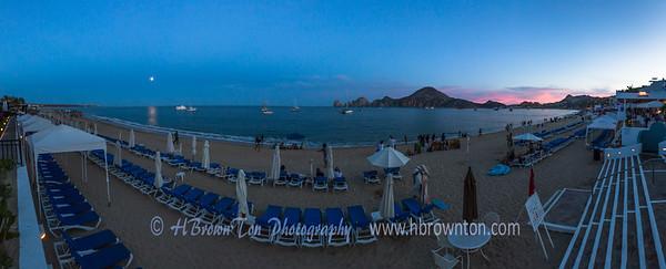 Moonrise & Sunset over Baja Penisula