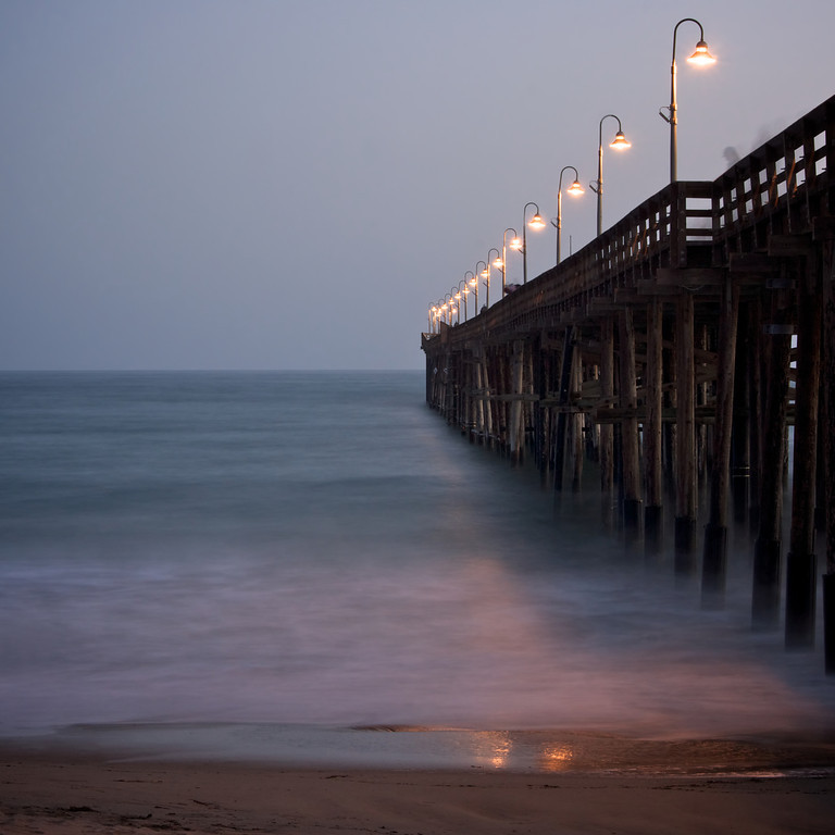 Ghost among the pier