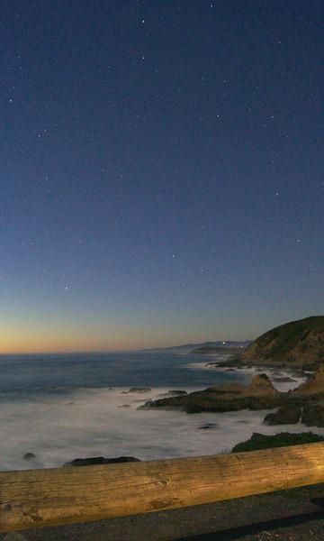 Stars after sunset at Bodega Head ref: 149d35a4-b60f-4533-8d0b-8495b38a475e