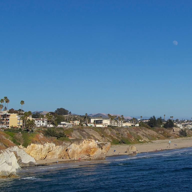 Moon over Pismo Beach