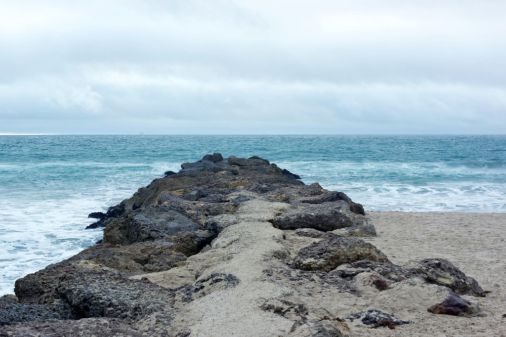 Rock path out to sea