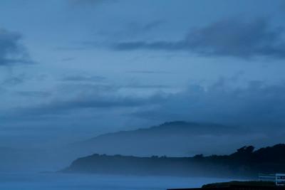 Big Sur in the Evening Fog