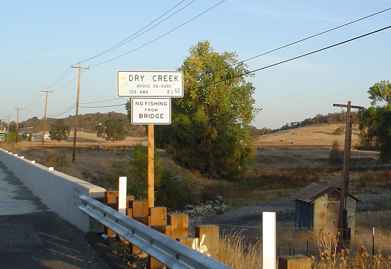 If you did fish in a dry creek.... Ione, CA, within walking distance of Mule Creek State Prison. 2007