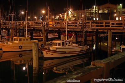 San Francisco harbour at night