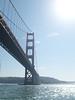 Probably the most famous bridge in the world, San Francisco's Golden Gate Bridge.