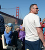 Tourists on the boat tour of SF Bay.