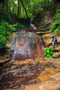 Middle Golden Cascade Falls