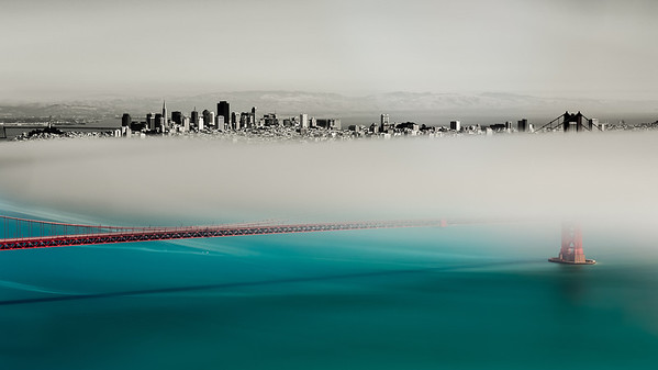 The Upper Half - San Francisco Was out shooting with my new LEE Big Stopper yesterday. Here is an image I processed from the shoot. I think I post two many Golden Gate Bridge pictures!   http://smu.gs/MnyEiG