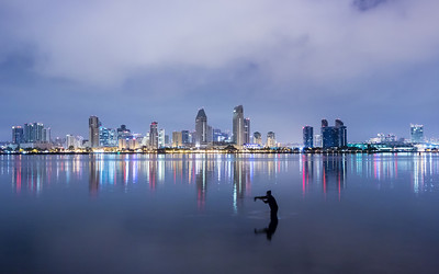 Fishing in the San Diego Harbor