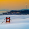 """Shifted Under The Fog - Golden Gate Bridge<br /> So I had this shot also from May. I was out shooting early in the morning with the mayor of the bridge himself, +Joe Azure. That was one of the best mornings I have ever had in all my 3 years here. This was also during a full moon, so the fog was lit really nicely. Sunrise, Full Moon and Low fog :)  For this shot I decided to have a little fun, by adding a small tilt-shift effect to it. All Processed in Lightroom 4. <br /> <br /> Canon 7D and a Canon 70-200mm f/4 L Lens<br /> ISO 100<br /> f/16 for 22 Seconds<br /> I have an entire Golden Gate Bridge Album on my +SmugMug - <a href=""""http://smu.gs/MDiCmg"""">http://smu.gs/MDiCmg</a>"""