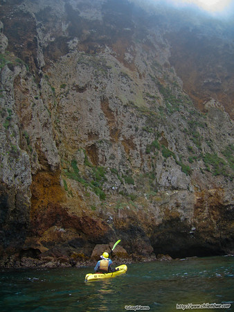 Santa Cruz Island sea caves