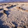 Dried salt plates.  West of Boxax ruin.  Death Valley NM, California.