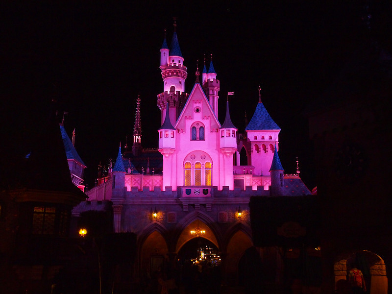 Sleeping Beauty's Castle at Disneyland - 15 Jan 2011