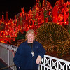 Nancy in front of It's a Small World at Disneyland - 9 Dec 2010