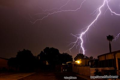 Bakersfield Lightning storm