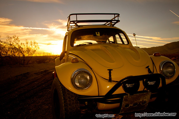 Baja bug along the jeep trail