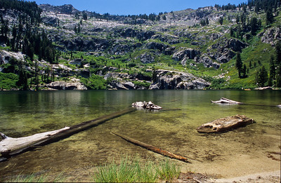 Angora lake.  Lake Tahoe, California.