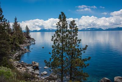 Lake Tahoe east shore.  Lake Tahoe, Nevada.