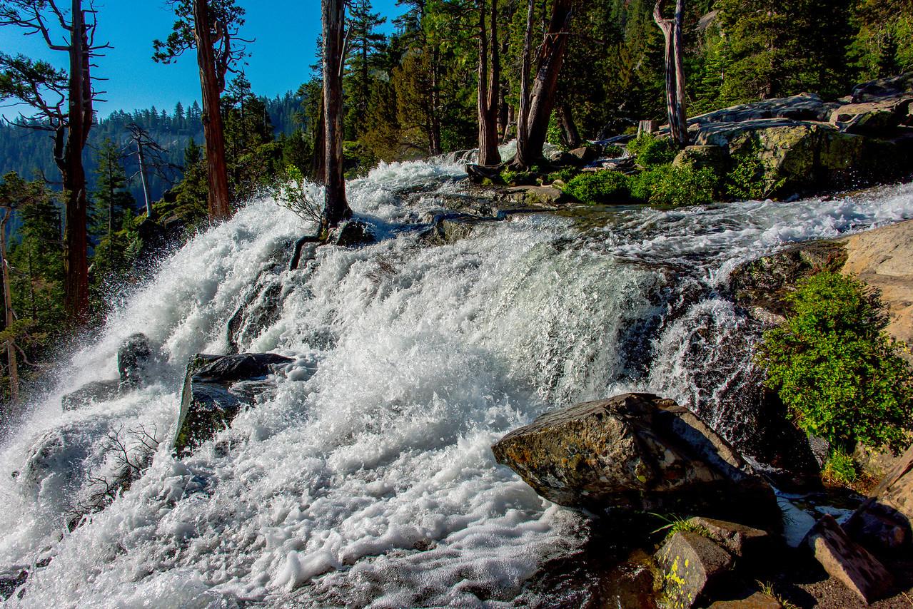 Eagle falls as it cascades to Emerald bay.  Lake Tahoe, California.