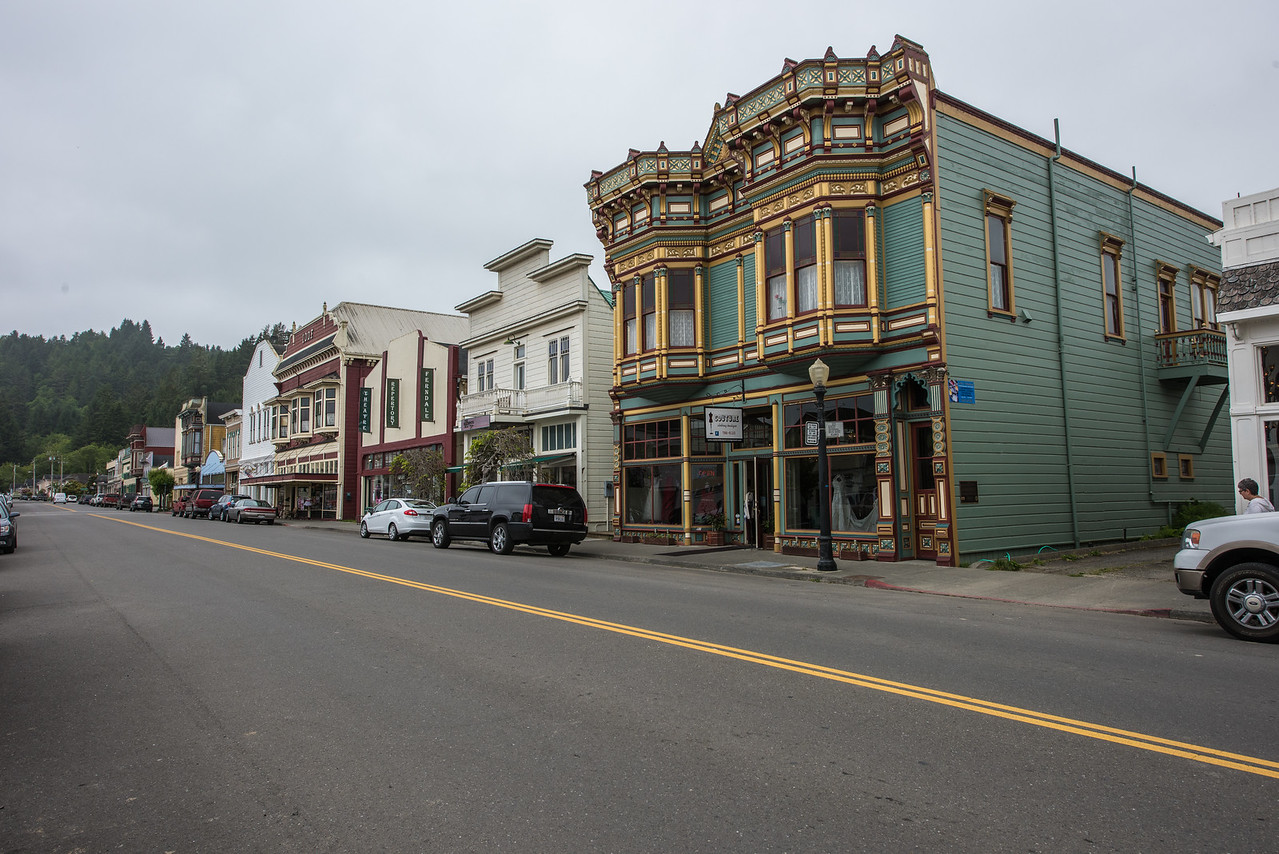 """Town of Ferndale.  Used as movieset for """"outbreak"""".  Ferndale, California."""