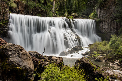 Middle falls on the McCloud river.  California.