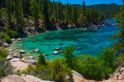 Secret cove is Turquoise beautiful.  Located on the east shore, south of Chimney beach.  Lake Tahoe.