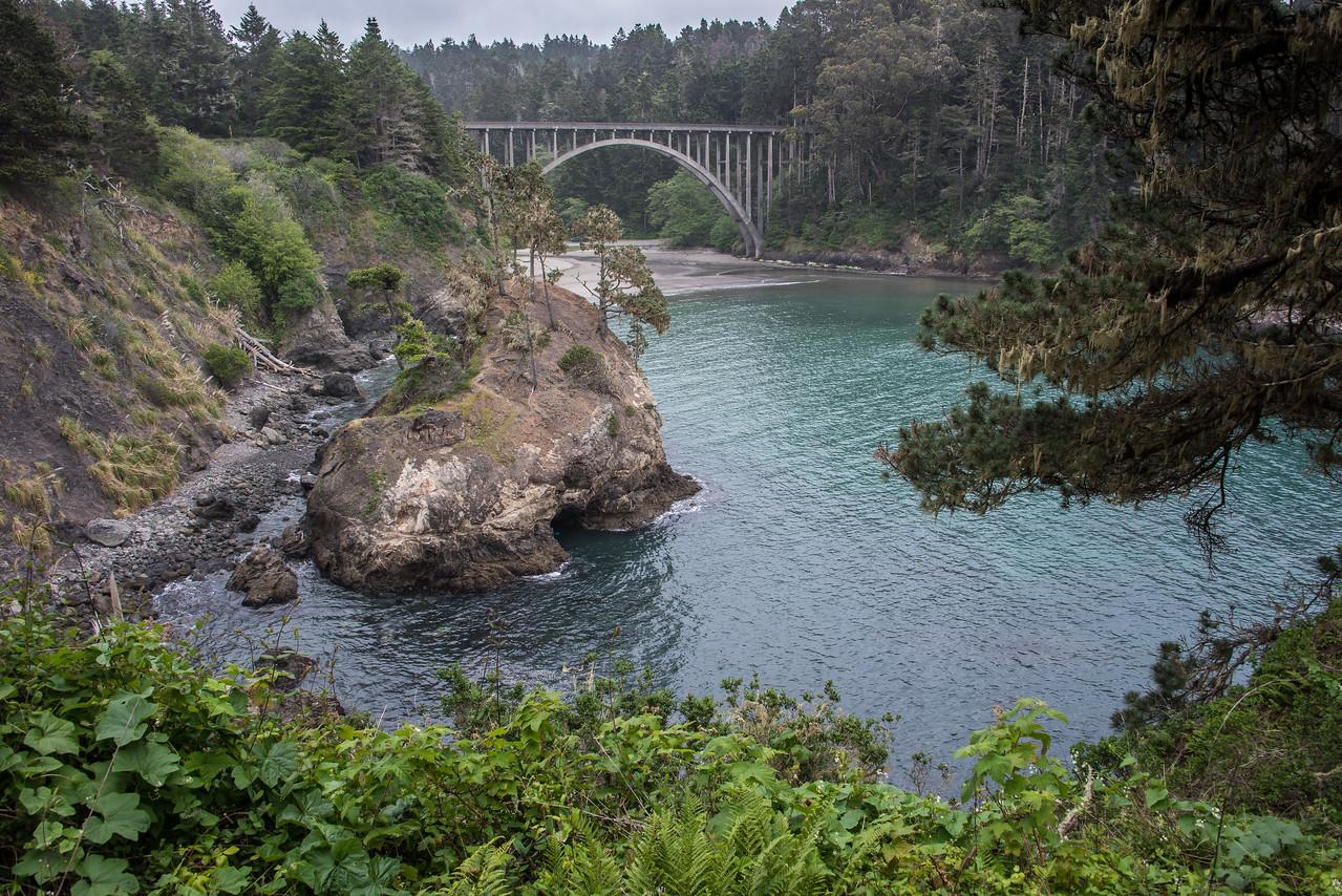 Russian Gulch bridge.  Mendocion. California.