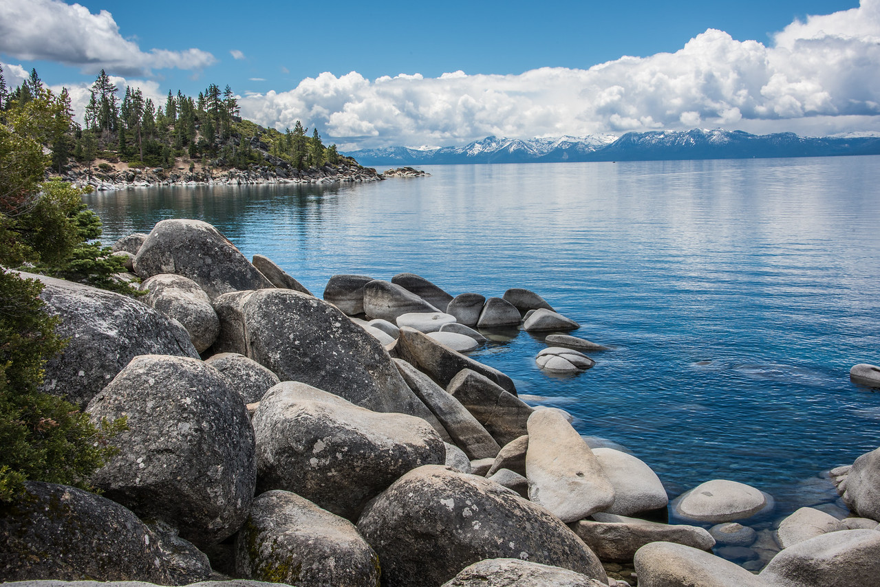 Lake Tahoe, east shore.  Lake Tahoe, Nevada.