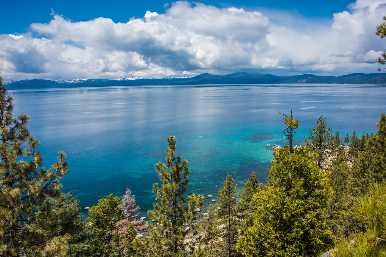 Lake Tahoe, west shore.  Lake Tahoe, Nevada.