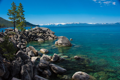 East shore view looking west.  Photo taken on trail from Chimney beach to Secret cove.  Lake Tahoe, Nevada.