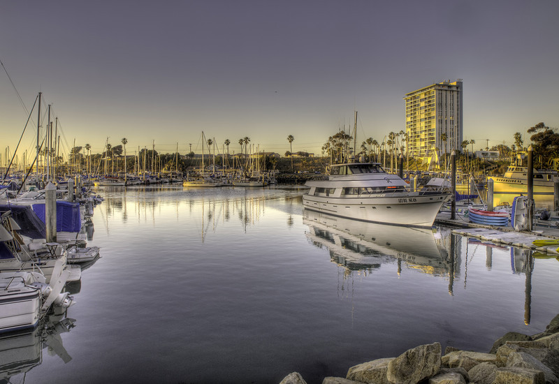 Sunset at Oceanside Harbor - HDR - 7 Feb 2011
