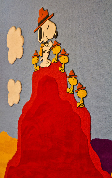 Snoopy wall mural in the gallery.