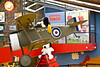 The WW I Flying Ace soars over the gift shop.