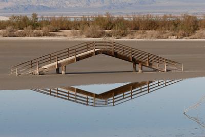 Bridge to no where.  Red Hill marina 2007, Salton Sea.