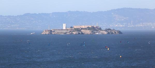 Alcatraz and parasurfers.