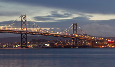 Bay Bridge at twilight from Treasure Island