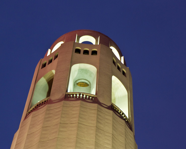 Coit Tower at twilight