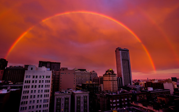 Another Double Rainbow shot from yesterday over San Francisco September 5, 2012 (http://smu.gs/P49G8w)